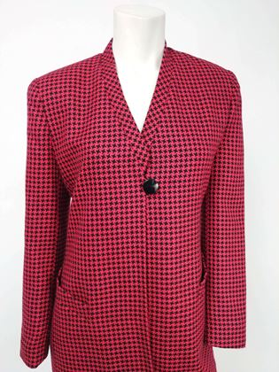 1980s-christian-dior-red-black-houndstooth-two-piece-skirt-suit-set