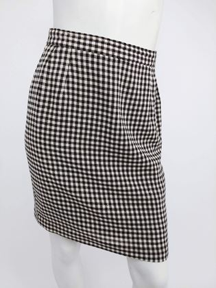 black-and-white-gingham-mod-skirt-suit-1960s