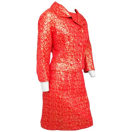 red-and-gold-brocade-jacket-top-and-skirt-suit-set-1960s
