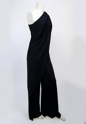 black-draped-jersey-cape-disco-jumpsuit-1970s