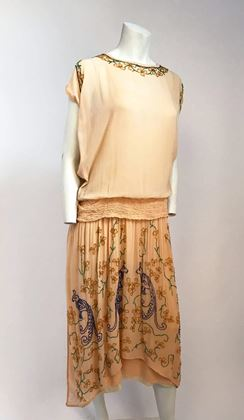 peach-glass-beaded-drop-waist-dress-1920s