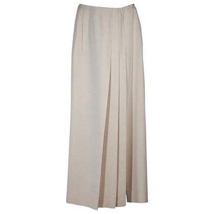 ivory-chanel-pleated-long-skirt