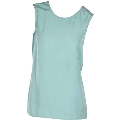 teal-vintage-chanel-sleeveless-top