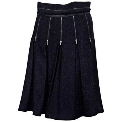 chanel-navy-blue-pleated-skirt