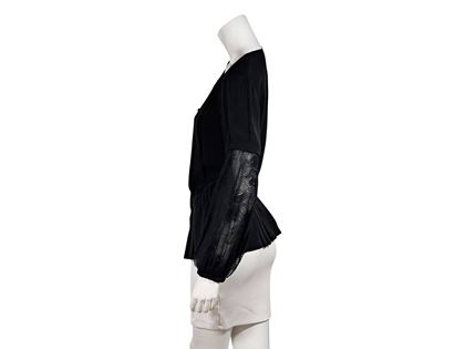 chanel-pleated-black-silk-blouse