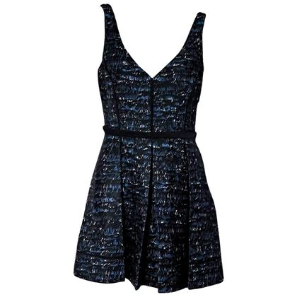 proenza-schouler-blue-and-black-printed-dress