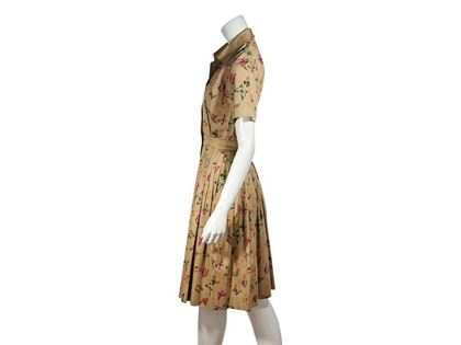 multicolor-vintage-gucci-butterfly-cotton-shirtdress