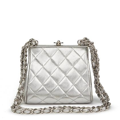 silver-quilted-metallic-lambskin-vintage-mini-timeless-frame-bag
