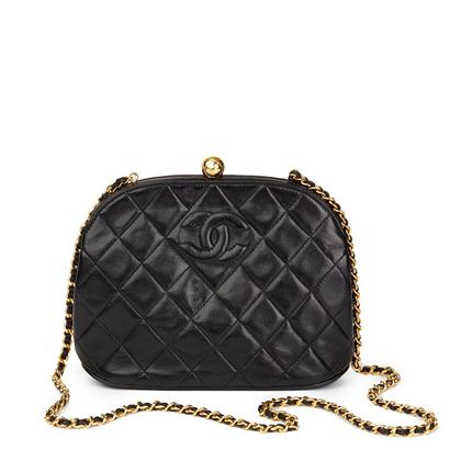 black-quilted-lambskin-vintage-timeless-frame-bag