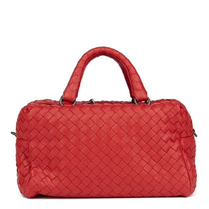 china-red-woven-calfskin-leather-mini-top-handle