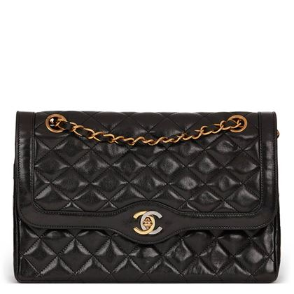 black-quilted-lambskin-vintage-medium-paris-limited-double-flap-bag