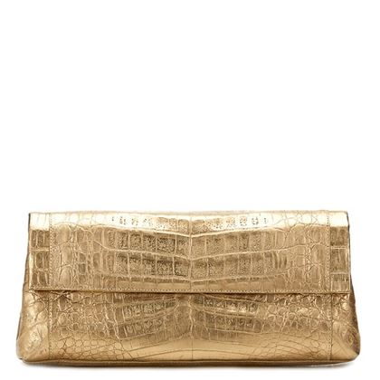 gold-crocodile-leather-clutch