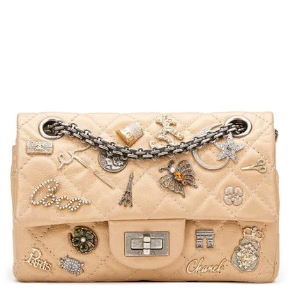 gold-aged-metallic-calfskin-leather-lucky-charms-255-reissue-224-double-flap-bag