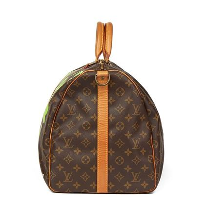 Louis Vuitton Hand-Painted 'Benjamin$ Baby' Keepall Bandouliere 55