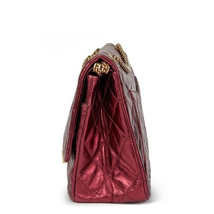 dark-red-quilted-metallic-aged-calfskin-leather-255-reissue-227-double-flap-bag