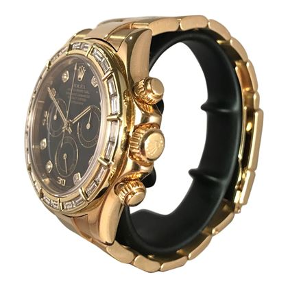 Picture of 18K Yellow Gold Rolex Daytona with Diamond Bezel