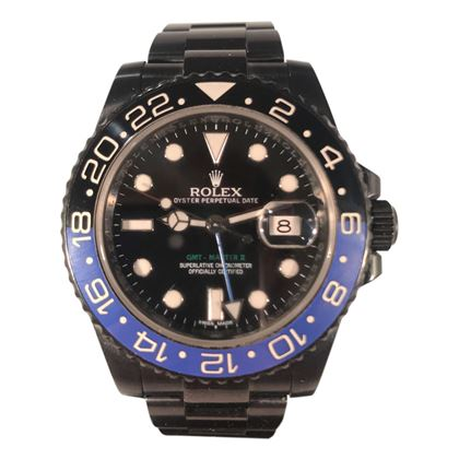 Picture of Rolex GMT Master II Batman Aftermarket in Black Enamel
