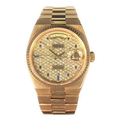 Picture of Rolex Yellow Gold Day Date With Diamond Watch Face