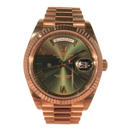 Picture of Rolex Day Date President in Rose Gold with Green Dial