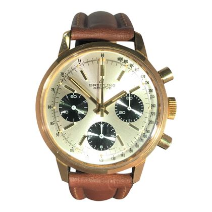 Picture of Rare Breitling Vintage Gold Chronograph Mens Watch