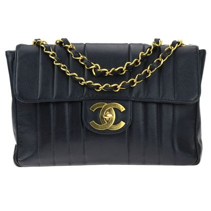 chanel-navy-blue-caviar-jumbo-vertical-stripe-single-flap-bag-ghw