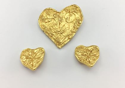 lacroix-gold-plated-earrings-and-brooch-modernist-heart-set-by-goossens-1994