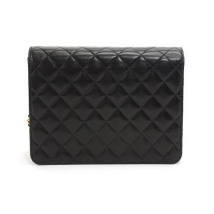 chanel-black-quilted-lambskin-leather-half-flap-chain-shoulder-bag-ex