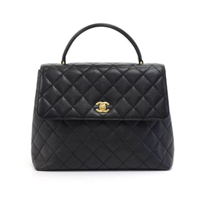 chanel-12-kelly-style-black-quilted-caviar-leather-hand-bag-3