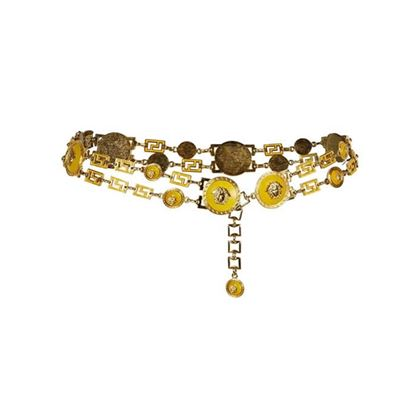 gianni-versace-1990s-yellow-and-gold-chain-statement-medusa-belt-uk-size-8-14