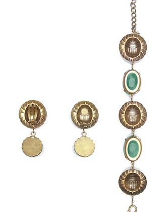 joseff-of-hollywood-1940s-bracelet-earring-set-with-scarab-beetle-design