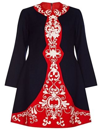 vintage-1960s-navy-and-red-wool-crepe-embroidered-mod-dress-uk-size-12-14