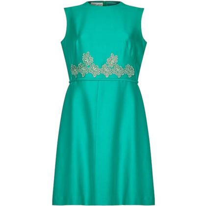 clevaline-london-1960s-emerald-green-dress-with-floral-lace-embellishment-uk-size-10-12