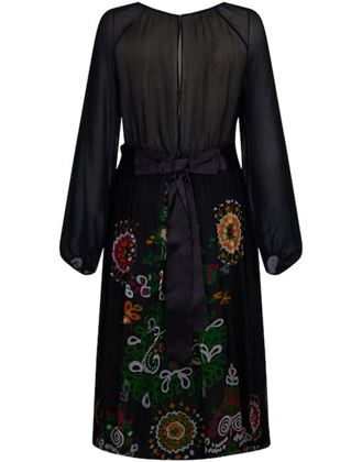 robell-1970s-couture-black-silk-floral-chiffon-dress-uk-size-8-14