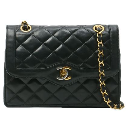 chanel-paris-limited-edge-design-flap-mini-chain-bag-black