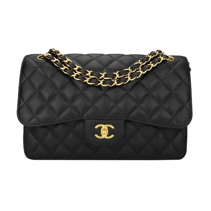 chanel-double-flap-jumbo-black-caviar-gold-hardware-2015