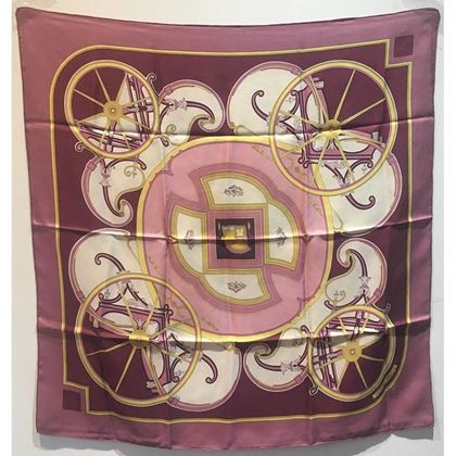 hermes-vintage-washingtons-carriage-silk-scarf-in-rose-c1970s