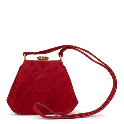red-quilted-velvet-vintage-mini-timeless-frame-bag