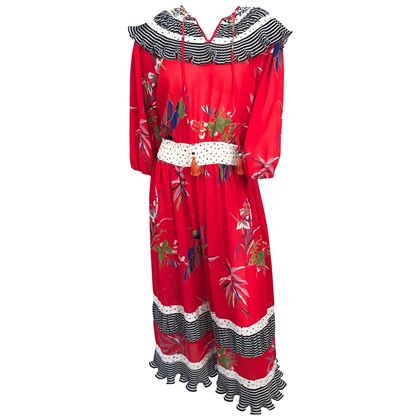 1980s-dian-fréis-red-floral-printed-dress