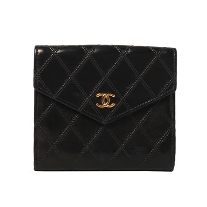 chanel-bicolore-stitch-cc-mark-plate-wallet-black