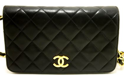 chanel-chain-black-quilted-flap-lambskin-purse-shoulder-bag-clutch
