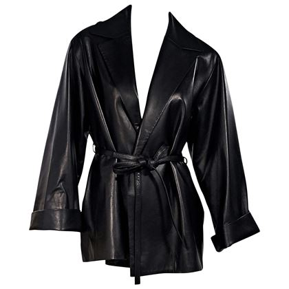 black-the-row-leather-belted-jacket