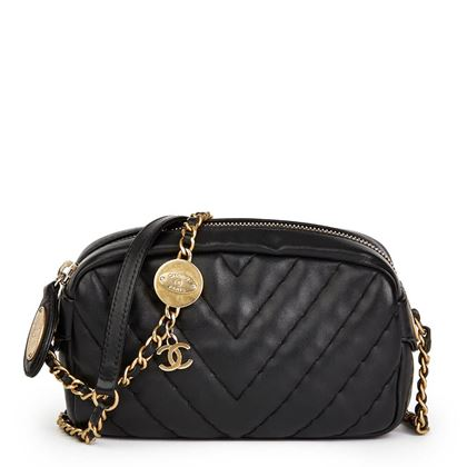 black-chevron-quilted-calfskin-leather-mini-medallion-charm-camera-bag