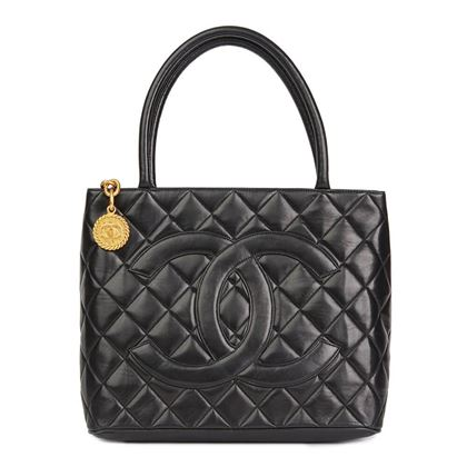 black-quilted-lambskin-vintage-medallion-tote