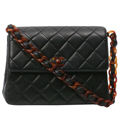 chanel-tortoiseshell-turn-lock-square-handbag-black