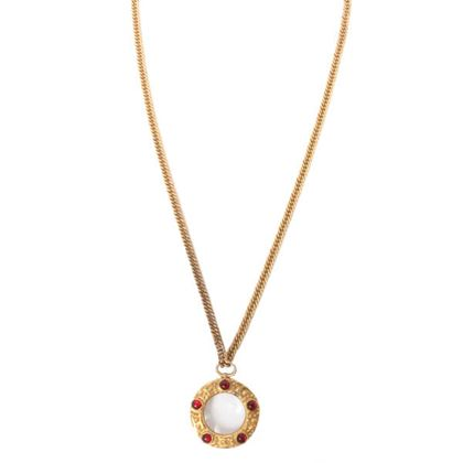 chanel-clear-glass-5-stone-mini-cc-mark-necklace-red