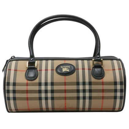 burberry-haymarket-check-pattern-logo-emboss-boston-handbag-beigebrown