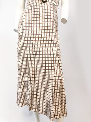 1930s-brown-plaid-day-dress-with-matching-belt