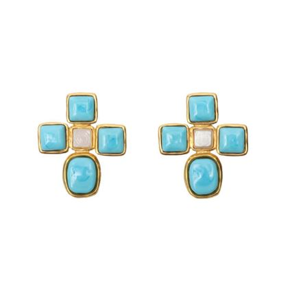 chanel-gripoix-glass-cross-earrings-sky-blue