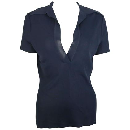 gucci-navy-knitted-v-neck-polo-shirt
