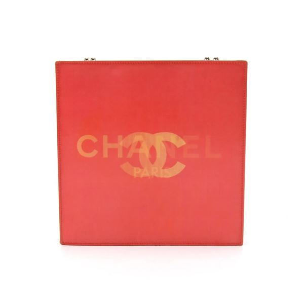 73c6c600e6b0 chanel-holographic-red-vinyl-chain-shoulder-bag